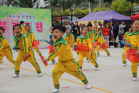 """图们市朝鲜族幼儿园:""""我运动,我健康,我快乐!""""6.1幸福家庭运动会"""