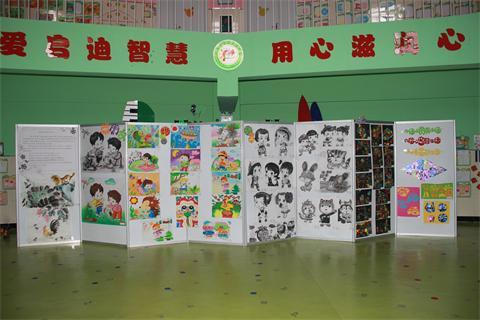 蛟河市新区幼儿园:举办教师绘画作品展