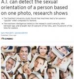 只要一张照片,人工智能就准确识别同性恋 - 新浪吉林