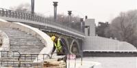 长春市南湖大桥栈桥 五月中旬完工 - 新浪吉林