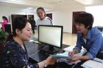 返乡创业综合服务功能区服务人员热情服务。 - 新浪吉林