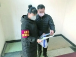 陈淑华向居民宣传防疫知识。林桂清 摄 - 新浪吉林